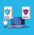 data security with laptop vector image