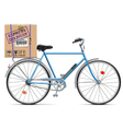 Delivery Bicycle with Carton Box vector image vector image