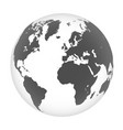detailed map world in form a globe vector image vector image