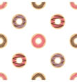 Donut seamless background vector image vector image