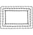 doodle frame with hearts leaves and circles vector image