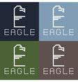 eagle monogram vector image vector image