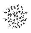 ecommerce digital money icon hand drawn icon set vector image vector image