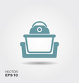 electric con oven icon in flat style vector image