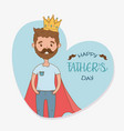 father with super hero coat character vector image vector image