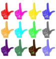 Foam Fingers Silhouettes vector image