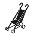 foldable mini stroller icon simple style vector image vector image