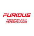 furious letters set dynamic bold font elegant vector image vector image