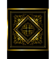 Gold frame with openwork ornament vector image vector image