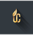 gold on dark upper class logo vector image vector image