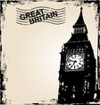 great britain background vector image vector image
