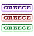greece watermark stamp vector image vector image