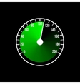 Green speedometer design on a black vector image vector image
