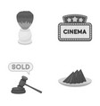 Hairdresser shopping and other monochrome icon in