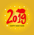 hand lettering with 2019 number new year vector image vector image