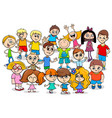 happy children cartoon characters group vector image vector image