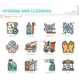 hygiene icon set vector image vector image