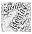 identity theft prevention Word Cloud Concept vector image vector image