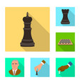 isolated object of checkmate and thin symbol set vector image
