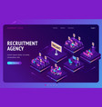 landing page for recruitment agency vector image vector image