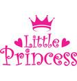 little princess label vector image