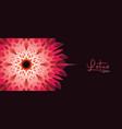 lotus yoga studio banner 3d sacred geometry flower vector image vector image