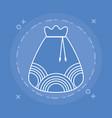lucky bag icon vector image vector image
