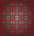 Luxury silver and red wallpaper Seamless Pattern vector image vector image