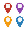 map marker icons set vector image vector image