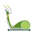 modern exercise bike in green corpus to stay fit vector image
