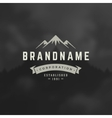 Mountain Design Element in Vintage Style vector image vector image