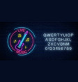 neon sign bar with live music with alphabet vector image