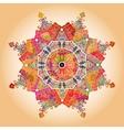 Oriental mandala motif vector image