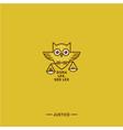 owl logo justice vector image