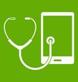 phone diagnosis icon green vector image vector image