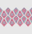 pink blue artichoke flower seamless border vector image vector image