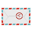 postage envelope with stamp icon isolated vector image vector image
