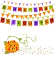 Pumpkin and buntings vector image vector image