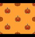 Pumpkin Head Pattern vector image vector image