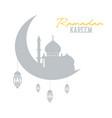 ramadan kareem concept shadow of muslim mosque vector image