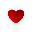 red polygon heart happy valentine day abstract vector image vector image