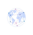 remote work logotype earth globewireless vector image