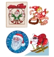 Santa a mix of separate pictures vector image vector image