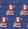 santa claus christmas pattern new year seamless vector image