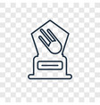 satellite concept linear icon isolated on vector image