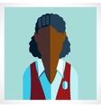 Schoolgirl African icon flat vector image