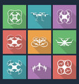 set aerial drone footage emblems vector image vector image