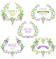 set of grapes vintage wreathes vector image vector image