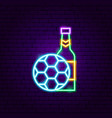 sport beer pub neon label vector image