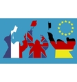 Students and european education vector image